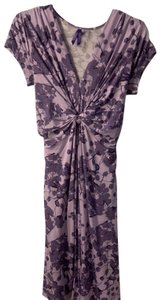 Séraphine Lavender Blossom Knot Front Maternity Dress