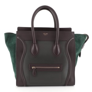 Céline Luggage Leather Satchel in multicolor