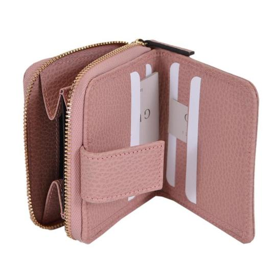 Gucci Gucci Womens Beige Pink GG Guccissima French Zip Wallet 346056 Image 4