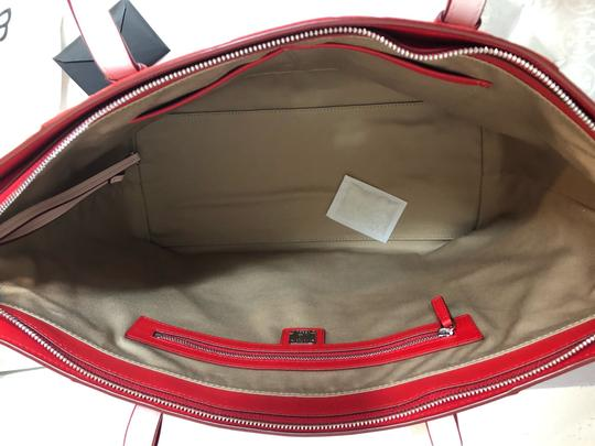 MCM Shopper Large Tote in Red Image 10