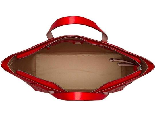 MCM Shopper Large Tote in Red Image 5