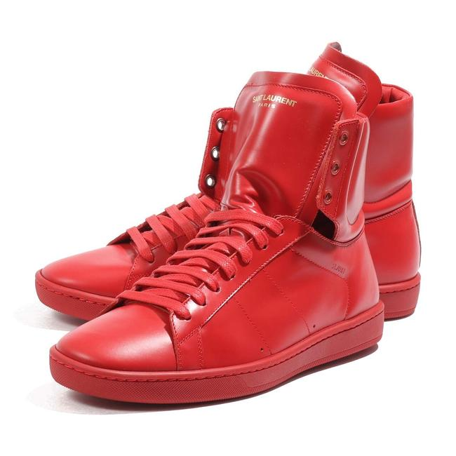 Saint Laurent Red Signature Court Classic Sl/01h High Top In Leather Sneakers Size EU 39 (Approx. US 9) Regular (M, B) Saint Laurent Red Signature Court Classic Sl/01h High Top In Leather Sneakers Size EU 39 (Approx. US 9) Regular (M, B) Image 1
