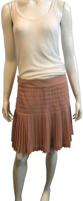Item - Nude Pink 8819 Pleated Skirt Size 6 (S, 28)