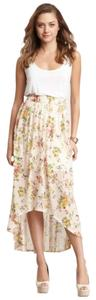 Loveappella New Hi Lo Bohemian Skirt Floral, blush