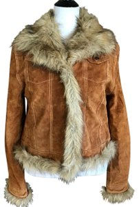Lily Rose brown Leather Jacket