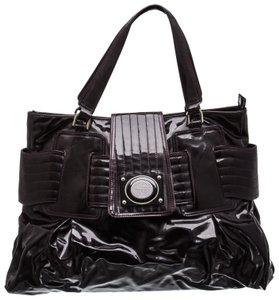 Versace Patent Leather Purple Tote in Plum