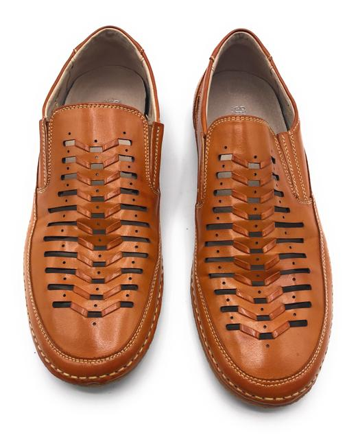 Item - Brown Perforated Loafer Flats Size US 8.5 Regular (M, B)