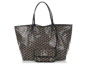 Goyard Gy.q0717.14 St Louis Silver Hardware Large Tote in Black