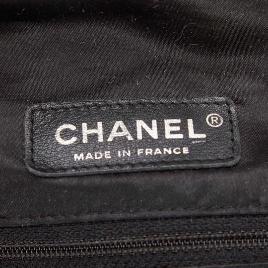 Chanel 8bchto010 Vintage Cotton Tote in Black Image 5