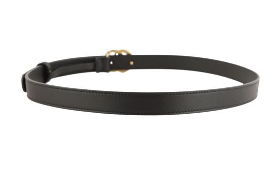Gucci Gucci Skinny Leather Belt with Double G Buckle Image 3