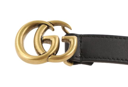 Gucci Gucci Skinny Leather Belt with Double G Buckle Image 6