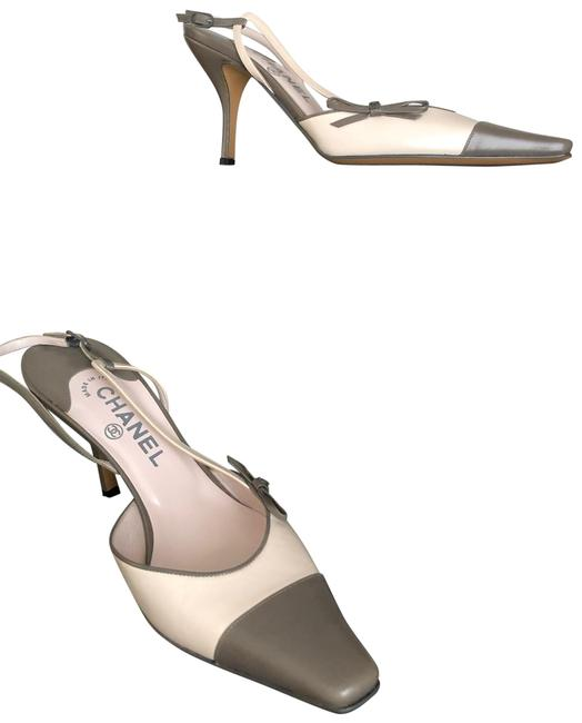 Item - Light Pink/Grey Sling Backs Pumps Size US 9 Regular (M, B)