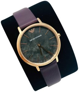 Emporio Armani NEW Women's Three-Hand Leather Watch AR11172