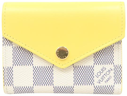 Preload https://img-static.tradesy.com/item/25937487/louis-vuitton-white-and-yellow-zoe-damier-azur-canvas-wallet-0-1-540-540.jpg