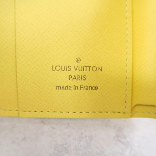 Louis Vuitton White and Yellow Zoé Damier Azur Canvas Wallet Image 10