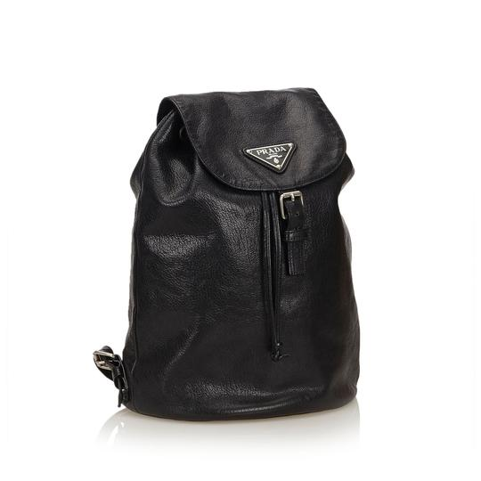 Prada 8cprbp003 Vintage Leather Backpack Image 1