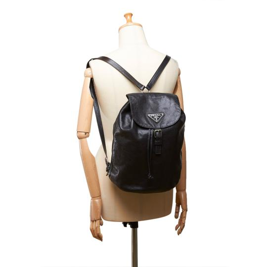 Prada 8cprbp003 Vintage Leather Backpack Image 7