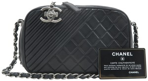 Chanel Calfskin Camera Small Cross Body Bag