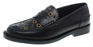 Burberry Leather Detail Black Flats