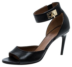 Givenchy Leather Ankle Strap Kitten Black Sandals
