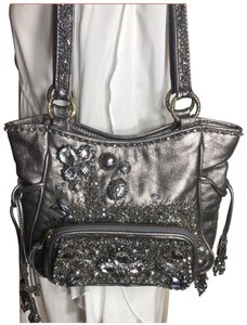 Mary Frances Satchel in Gray/Silver