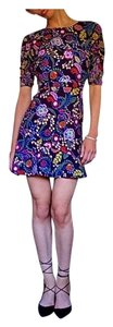 SALONI short dress Semisheer Mini Floral Revolve Self Portrait on Tradesy