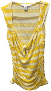 Diane von Furstenberg Top Yellow stripes