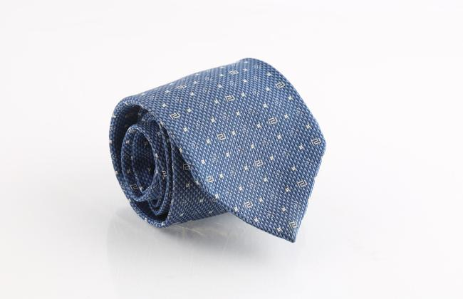 Item - Blue White Icon Silk Tie/Bowtie