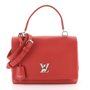 Louis Vuitton Leather Lockme Ii Satchel in RED