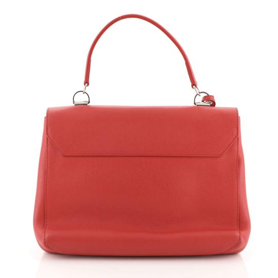 Louis Vuitton Leather Lockme Ii Satchel in RED Image 2
