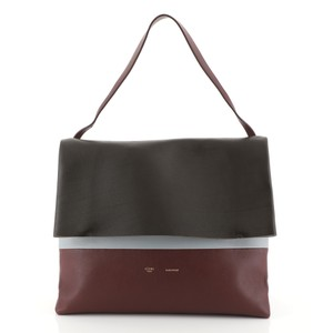 Céline Soft Leather Satchel in red