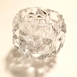 Tiffany & Co. Clear Co Crystal Candle Holder Decoration