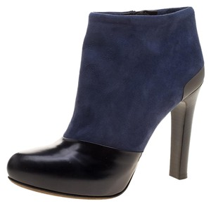 Fendi Suede Leather Navy Blue Boots