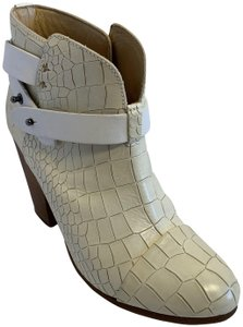 Rag & Bone Leather Ankle Wood Heel 90mm white Boots