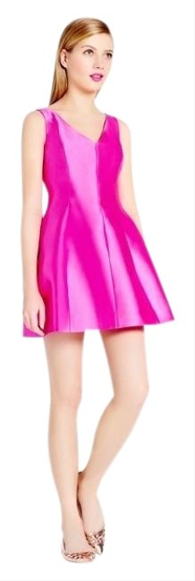 Item - Pink Silk Structured Short Cocktail Dress Size 4 (S)