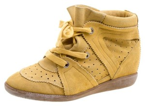 Isabel Marant Suede Wedge Lace Yellow Athletic
