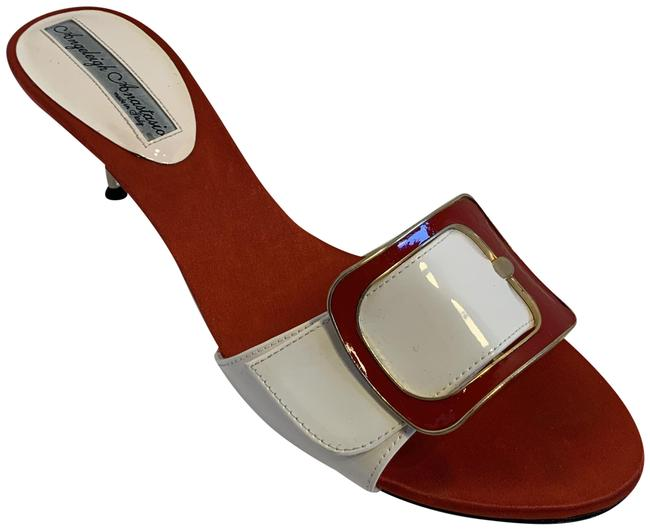 Item - Red and Pink Patent Leather Mule Sandals Size EU 38 (Approx. US 8) Regular (M, B)