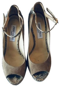 Jimmy Choo Taupe Platforms