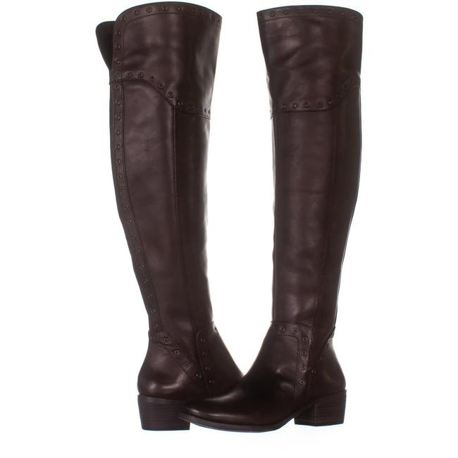 Item - Brown Bestan Studded Over The Knee 014 Carob / 3 Boots/Booties Size US 7.5 Regular (M, B)