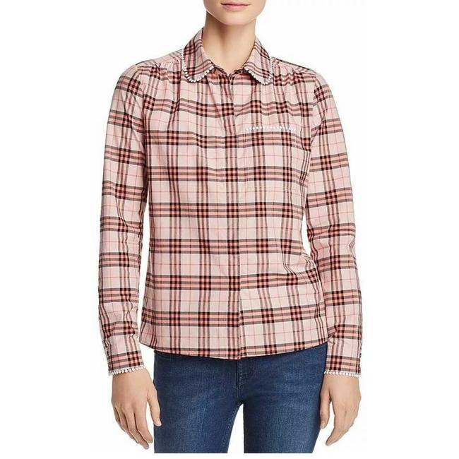 Item - Pink Plaid Brambling Embroidered Button-down Top Size 14 (L)