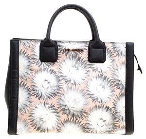 Karl Lagerfeld Leather Canvas Tote in Multicolor