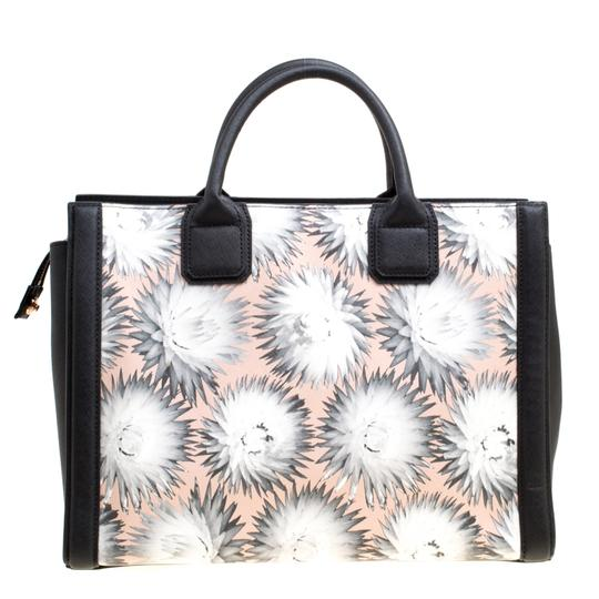 Karl Lagerfeld Leather Canvas Tote in Multicolor Image 1
