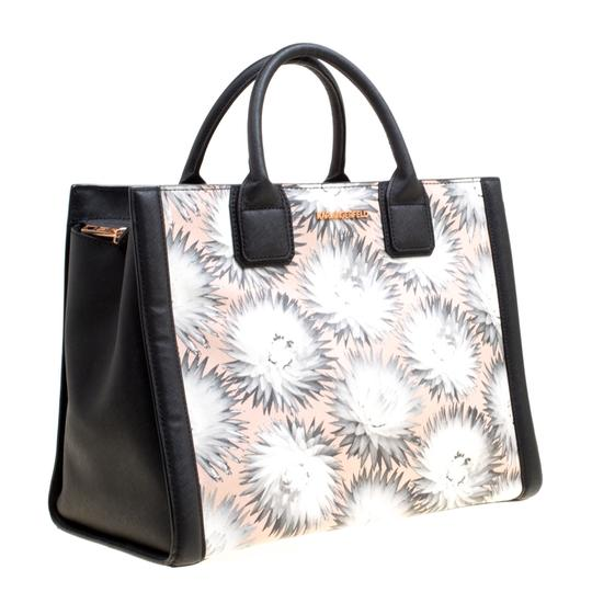 Karl Lagerfeld Leather Canvas Tote in Multicolor Image 3