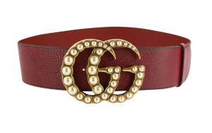 Gucci Wide with Faux Pearl Double G Leather