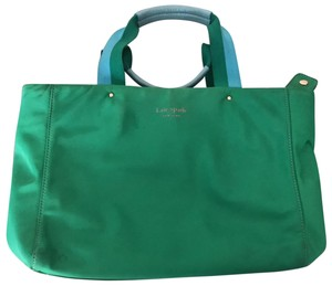 Kate Spade Tote in Green w rainbow lining