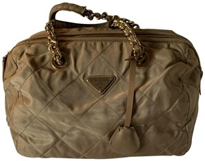 Prada Vintage Chain Neutral Shoulder Bag