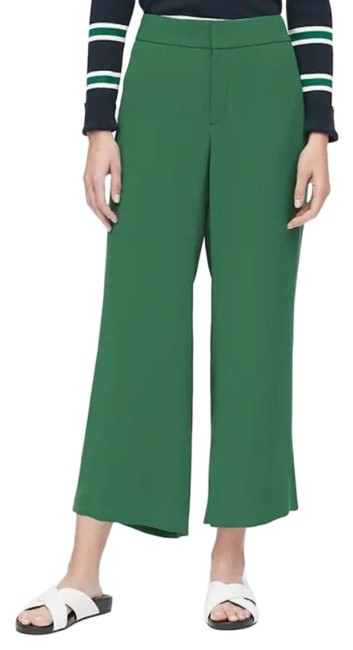 Item - Green High-rise Cropped Pants Size 12 (L, 32, 33)