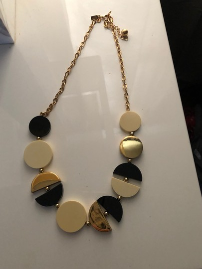 Kate Spade Kate Spade black, white and gold deco. necklace Image 2