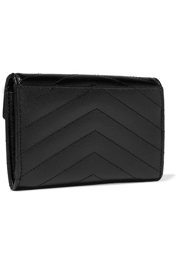 Saint Laurent Quilted textured-leather wallet Image 3