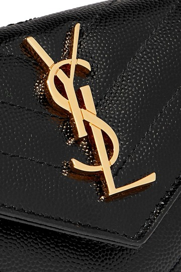 Saint Laurent Quilted textured-leather wallet Image 4